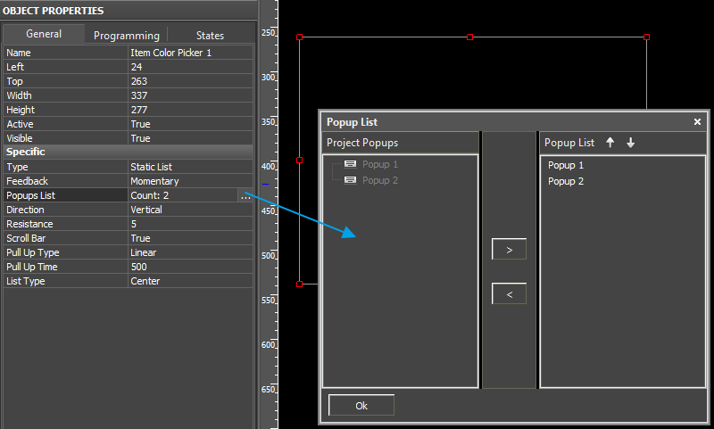 Editor window Object Properties General Static list.png